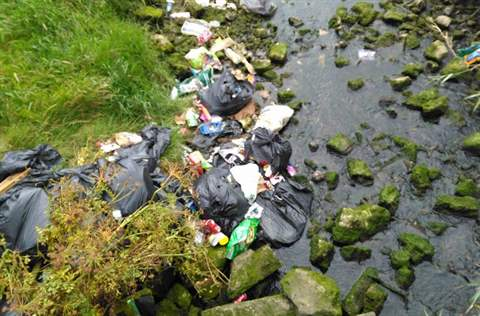 illegal dumping of rubbish